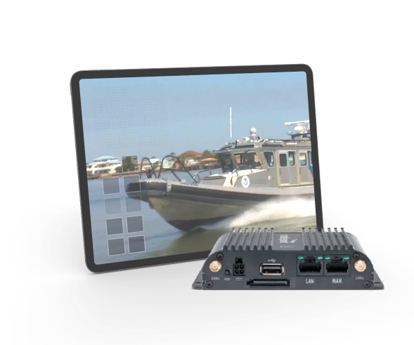 NSC IoT stream video from boats, vehicles, vessels for situational awareness